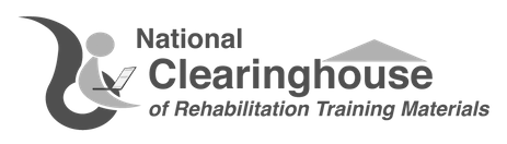 National Clearinghouse of Rehabilitation Training Material logo, linked to the NCRTL website