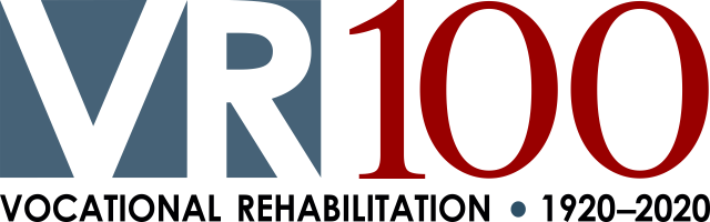 Vocational Rehabilitation 100 years logo
